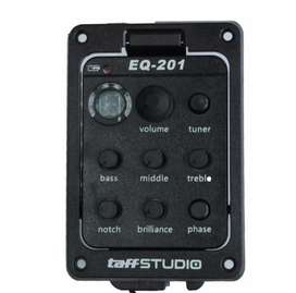 TaffSTUDIO Fishman Preamp Amplifier Gitar EQ Tuner - Black