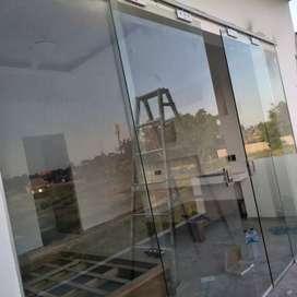 Partisi kaca dan aluminum pintu jendela