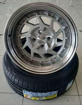 velg Celong Ring16x8-9 H4x100 HSR + Ban 195/50 r16