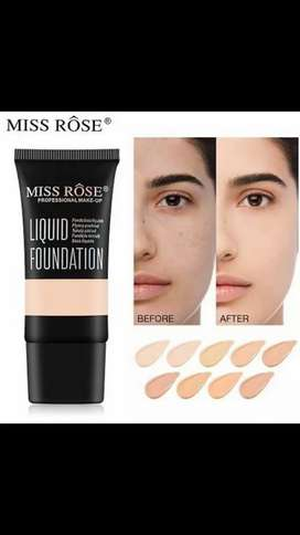 Miss rose liquid foundation and powder foundation