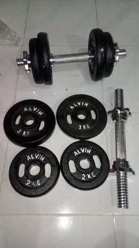 Barbel / dumble set 12kg x 2 stik. FREE ONGKIR