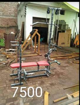 Double strong home gym bench
