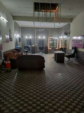 Well running furnished saloon for sale