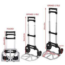 Imported Portable Luggage Trolley Stands with Rubber Wheels (176lbs)