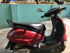 Red color bike with good condition