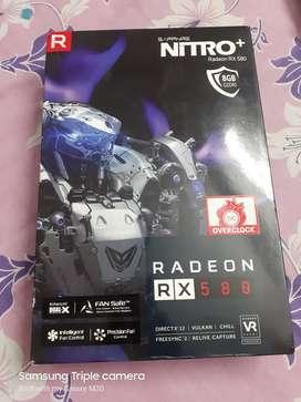 Amd Sapphire Nitro plus RX 580 8gb ddr5 graphics card.