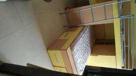 Bunk Bed Without Mattress Yellow colour from Dubai. 5 years