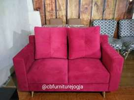 Sofa Scandinavian 2 seater Double Sandaran.