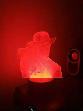 Red Dead Redemption Arcylic Night Light Lamp