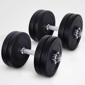 Dumbbells with plates at factory price