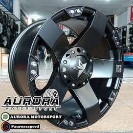 Pelek Strada, Triton ring 17 lebar 9 tipe Rasta HSR black