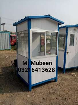 security guard cabin prefabe room container office portable washroom