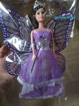 Boneka BARBIE SAYAP plus mahkota & tongkat peri