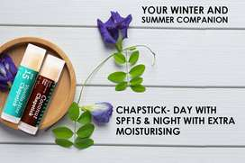 Your Winter and Summer Companion Chapstick- Day With SPF15 & Night Wit