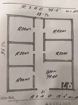 House for sale in Moin Bagh two side road