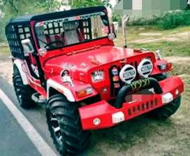 Modified red sylish jeep