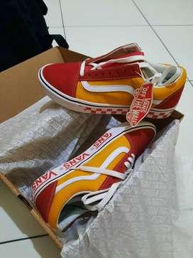 Sepatu Vans Comfycush Old Skool OldSkool Tape Mix Checkerboard Murah