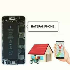GANTI BATERAI IPHONE Original TIPE KOMPLIT HOME SERVICE