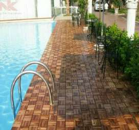 Solid Wood Deck Tiles Available
