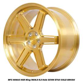 RFG MINAS HSR R19X85/95 H5X100 ET45 GOLD BRUSH(CB2)