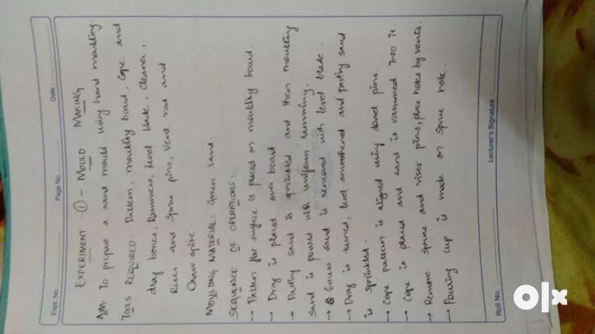 i write records of intermediate btech pharmacy 0