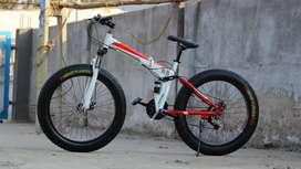 B.M New Shimano 21 gears fat tyre folding biycle