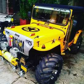 Yellow modified willy jeep