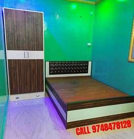DOUBLE BOX BED (7x6) & 2 DOOR ALMIRAH (COMBO)