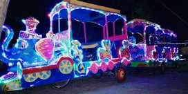 Kereta motor gajah odong odong fulll lampu 3 warna M6