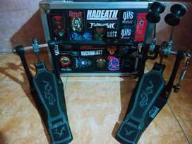 Double pedal Rolling + hardcase