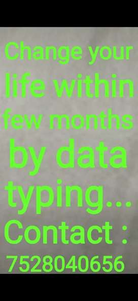 Data entry jobs can change your life within few months...