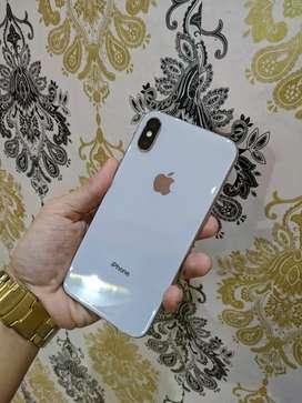 iPhone X 64GB Silver Mulus Fullset Normal 3 utools hijau