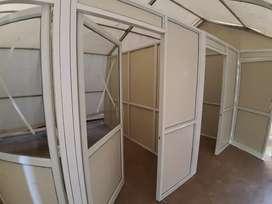 Aluminium door window partition