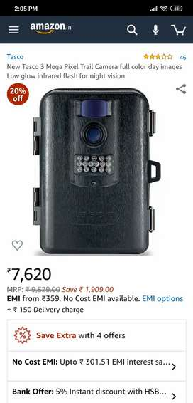 tasco 3 mega pixel trail camera with 4GB SD card.