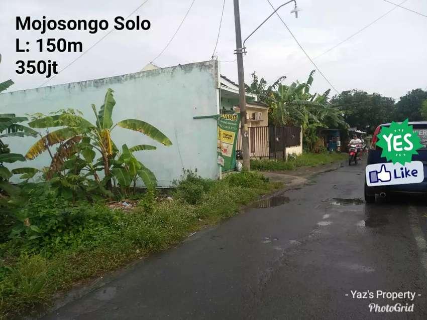 Dijual tanah mojosongo Utara UNS L: 150m 0
