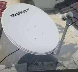 Pasang Transvision HD parabola murah setahun free Instalasi 420rbu