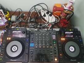 Alat DJ Pioneer CDJ 900 x2(Pair) + DJM 850 Free Case Pelindung Utk CDJ
