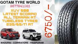 XUV 500 LATEST SCIRPIO TUBELESS TYRE SALES 235/65/17