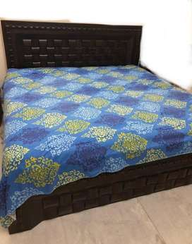 Convertible wooden double bed