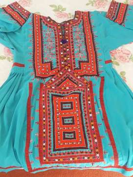 Kharani embroidery three suits best quality for sale at Baleli