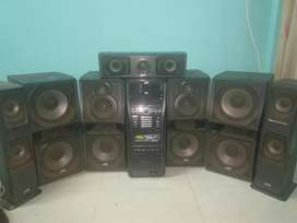 JVC home theater sound system  with 7 speakers