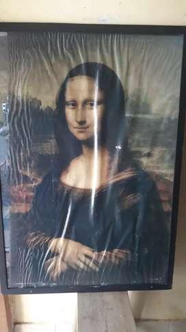 poster lukisan monalisa jadul