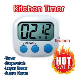 Digital Kitchen Timer & Stopwatch Cute / Alarm Masak Dapur Roti Kue