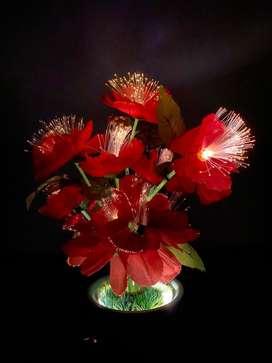 Lampu hias pajangan bunga cantik