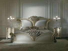 Set tempat tidur, elegant, ukiran khas Jepara, kayu jati, free ongkir