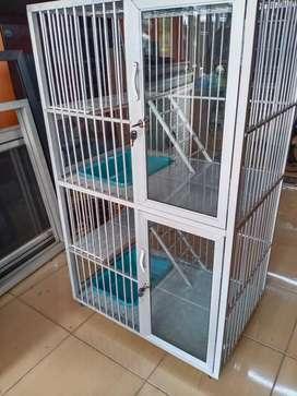 Kandang kucing aluminium anti karat mudah dibersihkan Bagus dan rapi