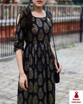 Women cotton anarkali dress