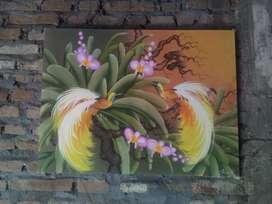 Lukisan kanfas Bali antik