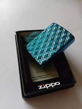 Zippo original armor blue diamond