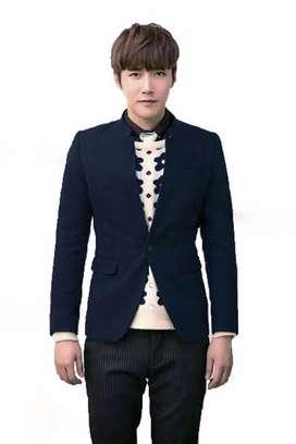 Blazer Cowok, Blazer Keren, Blazer Royal Blue Skinny Korean Style